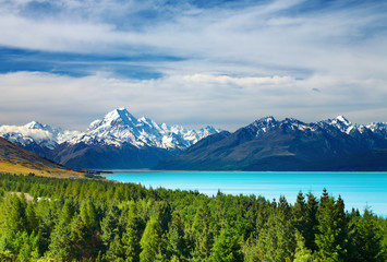 Fototapete - Mount Cook, New Zealand