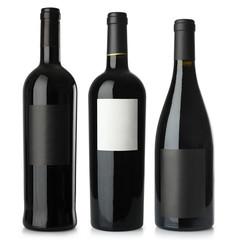 Red wine blank bottles