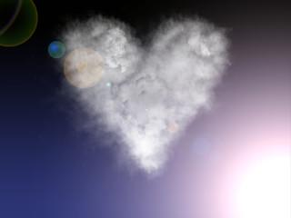 nuvola, cuore