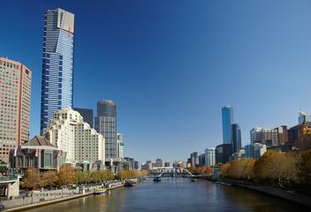 Yarra river in center of Melbourne