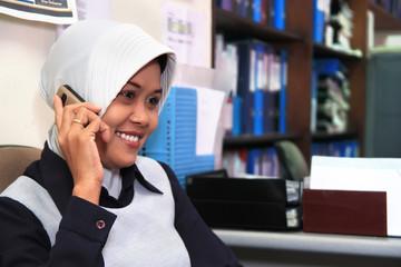 career woman in office