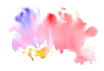 Watercolor abctract grunge pink blot
