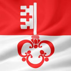 Flagge des Kantons Obwalden - Schweiz
