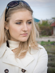 girl at field
