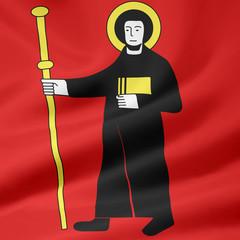 Flagge des Kantons Glarus - Schweiz