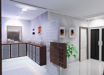 A kind of corridor design