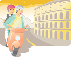 Scooter Ride in the Rome