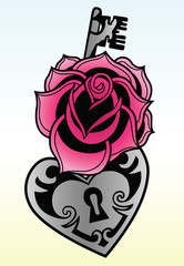rose with locked heat-shape key