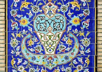 Oriental mosaic on the wall