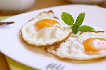 Foto auf AluDibond Eier spiegeleier,frühstück