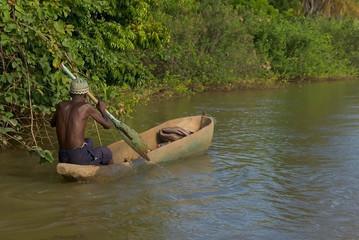 Navegante en Gambia