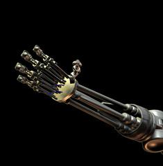 Keuken foto achterwand Muziek Robot Hand