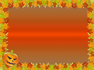 Halloween. frame or background with pumpkins