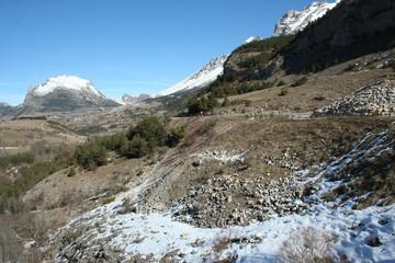 Paysage de montagne du Dévoluy