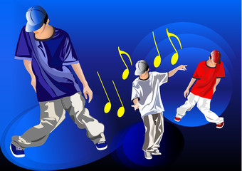 hip hop vettoriale
