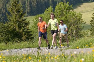 Fototapete - sportlich walken