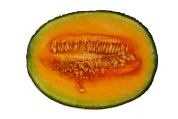 Rockmelon or cantaloupe half