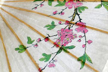 décor sur ombrelle japonaise