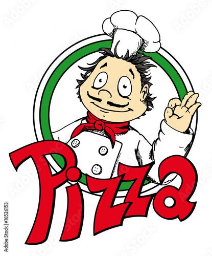 pizza logo pizzamann italienisch koch fichier
