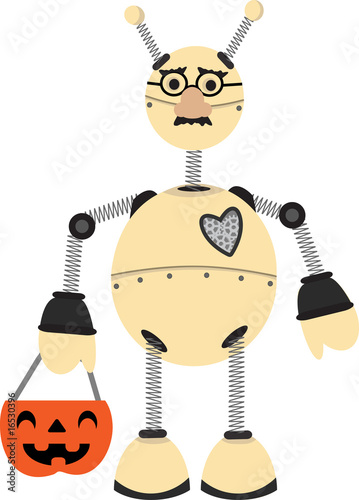 Robot Wearing Groucho Glasses Halloween Costume