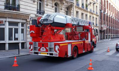 Intervention des pompiers en ville