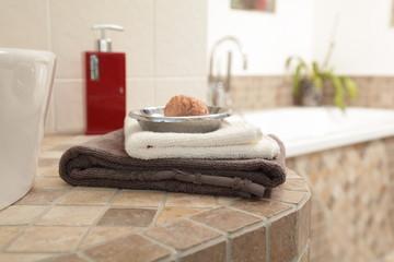 Im Badezimmer, Wellness und Spa