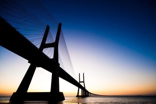Bridge Vasco da Gama Lisbon Portugal
