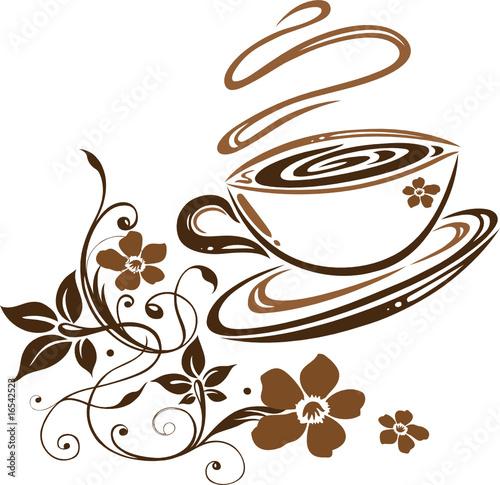 kaffee cafe kaffeetasse blumen floral stockfotos und lizenzfreie vektoren auf. Black Bedroom Furniture Sets. Home Design Ideas