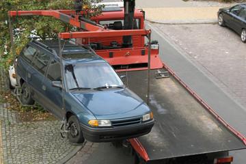 Abgeschleppter Wagen