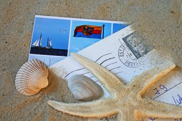 Urlaubskarten am Strand