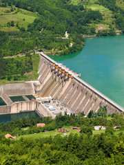 Wall Murals Dam hydroelectric power station