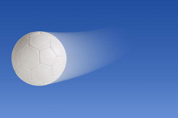 Soccer ball with clipping path