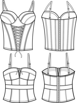 lady fashion corset