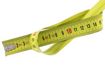 mètre-ruban enroulé