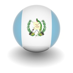 High resolution ball with flag of Guatemala