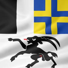 Flagge des Kantons Graubünden - Schweiz