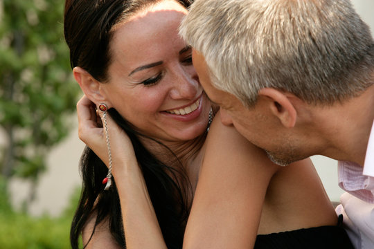 Attractive happy couple