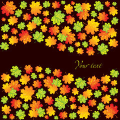 Abstact backgrounds with maple leaves