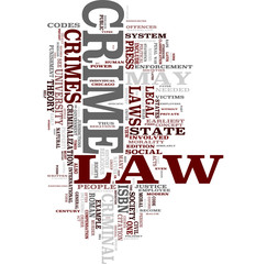 Law and Order word cloud