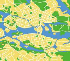 vector map of stockholm.
