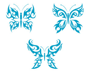 Isolated tattoos of butterfly