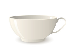 elegant white cup for coffee or tea