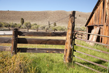 Classic Old Abaondoned Barn and Fence