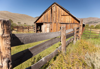 Vintage Old Abaondoned Barn and Fence