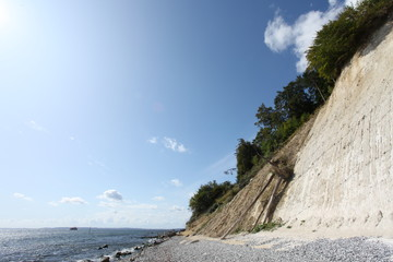 Kreidefelsen bei Sassnitz - Chalk cliff at Sassnitz