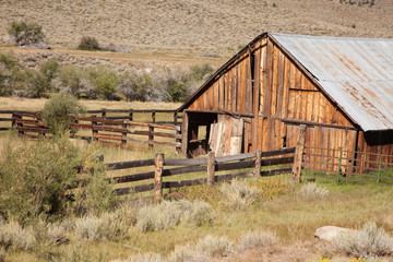 Old Abaondoned Barn and Fence