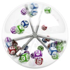 Balls in lottery machine