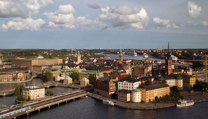Beautiful birdeye view of Stockholm