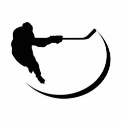 Hockey Player Silhouette