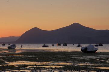 Fototapete - Morfa Nefyn Sunrise